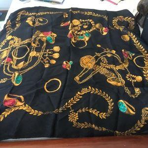 A vintage black Fendi scarf
